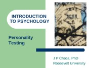 IP19 Personality Testing