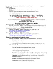 Comparative Politics Final Review