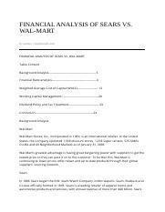 sears vs walmart case study