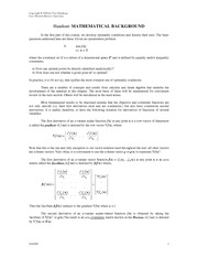 Handout 02 Mathematical Background