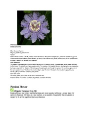 FS 111 passion flower research