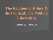 Lecture 23--Relation of E_P_For Political Lib ctools