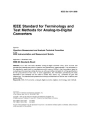 IEEE Standars for Terminology and Test methods for Analog to DIgital Converters