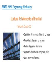 1_Moments of Inertia