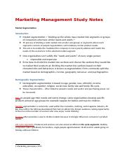 Marketing Management Study Notes MARKET SEGMENT STRATEGY.docx