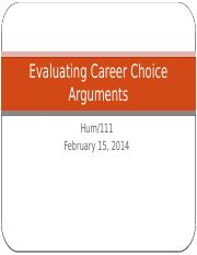 Evaluating Career Choice Arguments.pptx