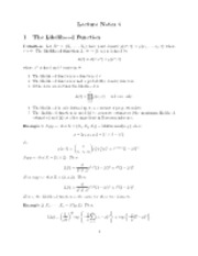 Likelihood notes
