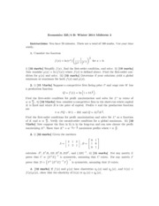 Midterm 2 Econ 325 Winter 2014 Answers