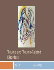 14. Trauma and Trauma-Related Disorders Part 1, for students