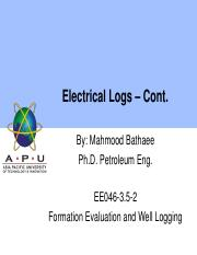 07 Electrical logs - cont'