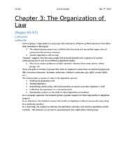 Chapter 3 - The Organization of Law (Lobbyists)