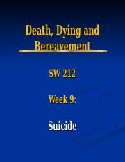 SW 212 Lecture Powerpoint Week 9_Suicide