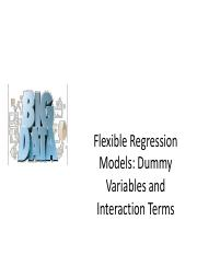 Lecture6-Flexible Regression Models - Dummy Variables