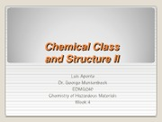 EDMG 240 - Chemical Class and Structure II - Luis Aponte