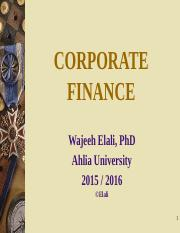 AU-FINC 501- LectureNotes-Ch1-Introduction to Corporate Finance-2015-2016