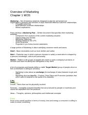 Chapter 1 Overview of Marketing.docx