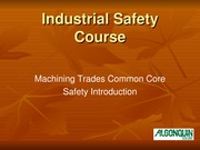 Machining Common Core Safety Intro