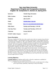 English 1B Syllabus, Section 25