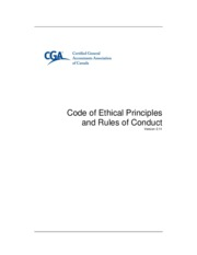 cga code of ethics and rules of conduct