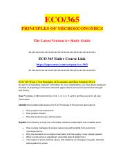 eco 365 principles of microeconomics entire Study flashcards on phoenix eco 365 entire course principles of microeconomics at cramcom quickly memorize the terms, phrases and much more cramcom makes it easy to get the grade you want.