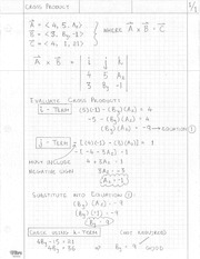 Solution - Cross Product(1)