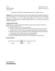 Experiment 12_ Reductive Catalytic Hydrogenation of an Alkene_ Decane