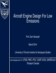 (9) 2014_Lecture9_AER1315_Aircraft engine design for low emissions_S Sampath