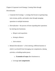 Chapter 6 Corporate Class Note