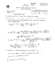Math 119 2006-2007 Spring MidRetm1 Solutions
