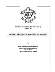 Effluent Treatment In Pharmaceutical Industry.docx