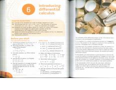 Ch. 6 - Introducing Differential Calculus