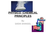 PHYSICO -CHEMICAL PRINCIPLES