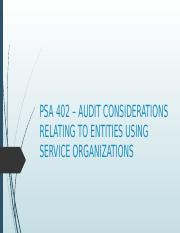 PSA 402 – AUDIT CONSIDERATIONS RELATING TO ENTITIES.pptx