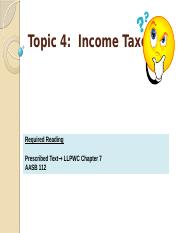 Topic 4 - Income Taxes(1)