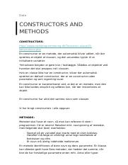 constructors and methods
