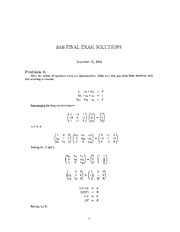 Final Exam - 2008 Solutions