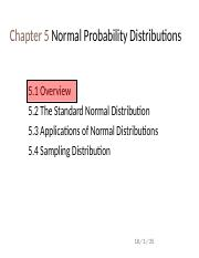ch5 Normal Probability Distributions.ppt