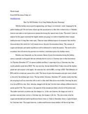 Essay for Recitation- Price Discrimination and Supply and Demand