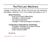 5 Machinery of the First Law