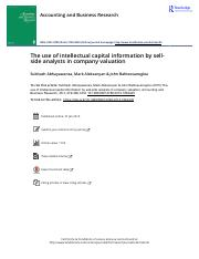 The use of intellectual capital information by sell side analysts in company valuation.pdf