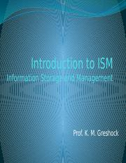 Intro to ISM
