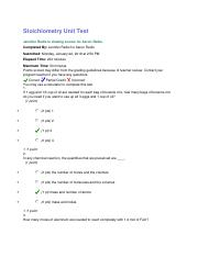 6.6 Stoichiometry Unit Test.docx