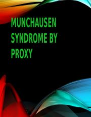 Munchausen Syndrome By Proxy.pptx