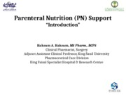 Nutrition in Surgical Patient TPN _Updated