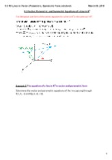 8.3 R3 Lines in Vector, Parametric, Symmetric Form