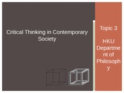 Critical Thinking 2014_15 SEM 1 Lecture 05