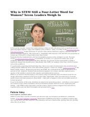 7e Why is STEM Still a Four-Letter Word for Women--Seven Leaders Weigh In.docx