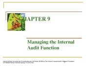Chapter 9 Managing the IA Function_Slides - Notes_3-28-2013
