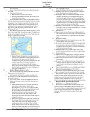 Study Guide Quiz 4