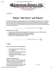 H102 Lecture 03_ Which _Old West_ and Whose_